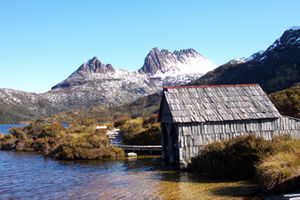 Dove Lake and Cradle Mountain in the Central Tasmanian Highlands
