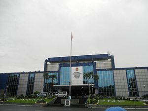 Bonny Serrano Avenue - The Philippine National Police Headquarters on Bonny Serrano Avenue
