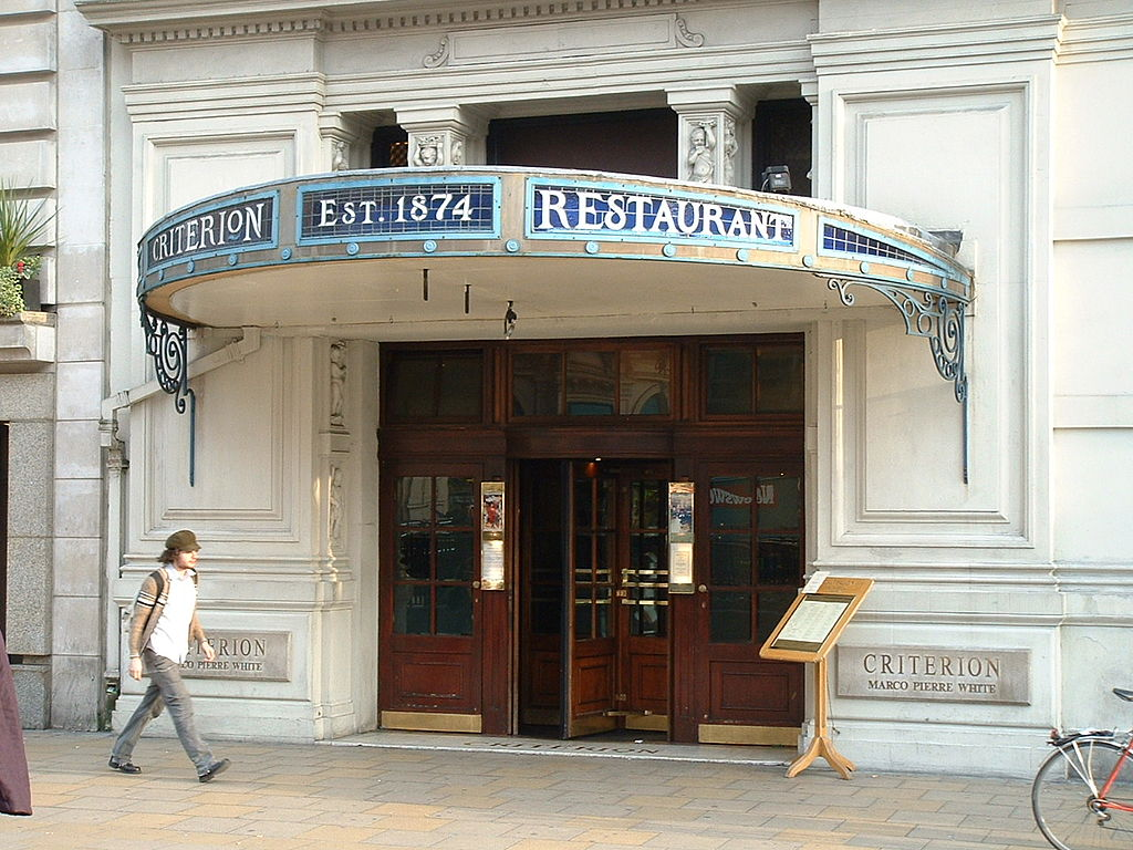 Criterion Restaurant London History