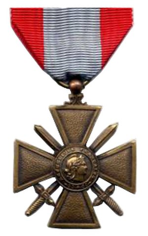 6th Foreign Engineer Regiment - Image: Croix de guerre des TOE