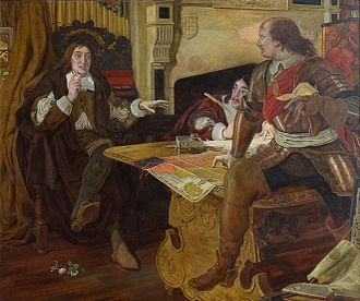 On the Late Massacre in Piedmont - Ford Madox Brown's painting Cromwell, Protector of the Vaudois, depicting Milton (left), Cromwell and Andrew Marvell preparing their response to the massacre