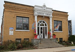 Zumbrota, Minnesota - Crossings at Carnegie, a performance space and art gallery in a 1907 library building