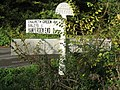 Crossroads sign from the days before Tarmac - geograph.org.uk - 279976.jpg