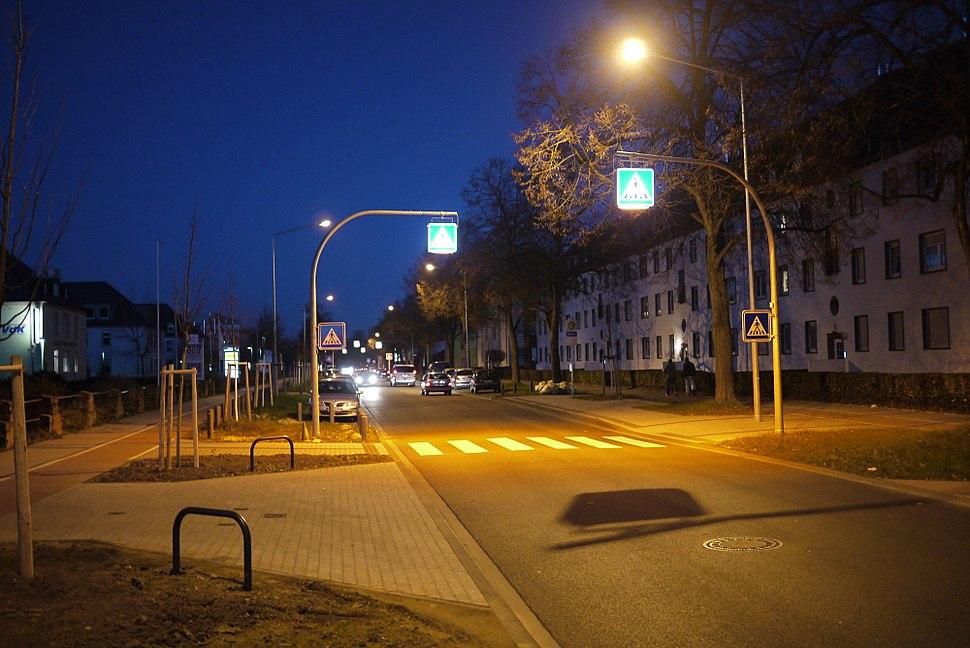 Crosswalk, with built-in lighting.