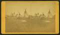 Crow Village of teepeees, Yellowstone Park, from Robert N. Dennis collection of stereoscopic views.png