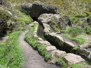 Cumbe Mayo - The aqueduct of Cumbe Mayo includes tunnels