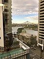 Customs House and Story Bridge, Brisbane seen from level 11 of 410 Queen Street building, 02.jpg