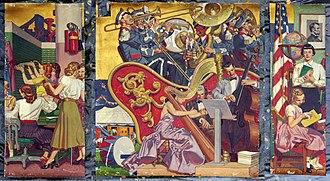 Centre William Rappard - Murals by Dean Cornwell, 1955
