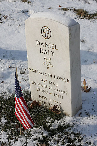 Daniel Daly - Daly is buried at Cypress Hills National Cemetery in New York City.