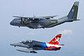 Czech Air Force Aero L-159 and CASA C-295 inflight.jpg