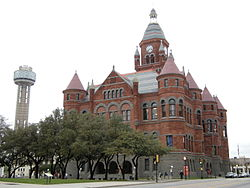 The former Dallas County Courthouse in March 2009