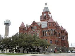 Före detta Dallas County Courthouse i Dallas.