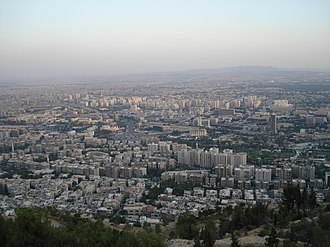 Mount Qasioun - Damascus viewed from the mountain's top