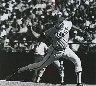 Dan Quisenberry - Quisenberry pitching for the Kansas City Royals