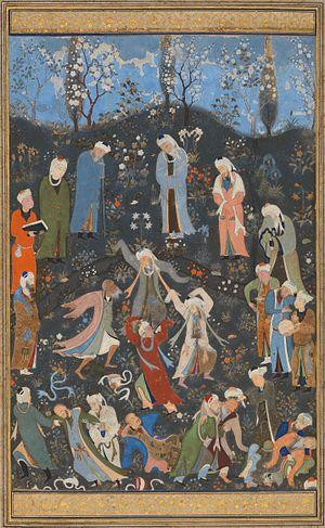 Sufism - Dancing dervishes, by Kamāl ud-Dīn Behzād (c. 1480/1490)