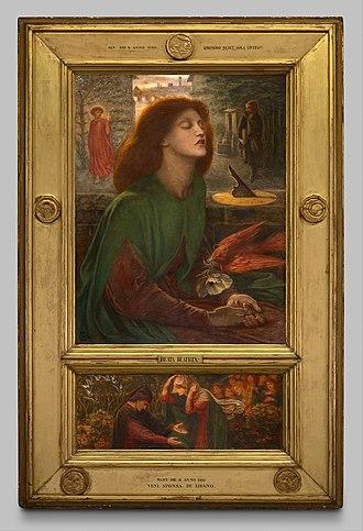 Beata Beatrix - Image: Dante Gabriel Rossetti Beata Beatrix 1925.722 Art Institute of Chicago