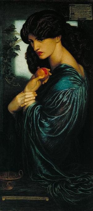 Pre-Raphaelite Brotherhood - Proserpine, 1874, by Dante Gabriel Rossetti, portrayed by Jane Morris.