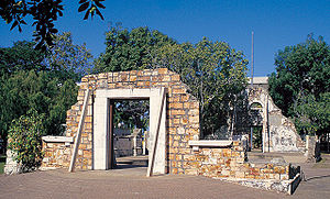 Darwin, Northern Territory - Remains of Palmerston Town Hall, destroyed by Cyclone Tracy