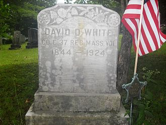 Hawley, Massachusetts - David Dunnels White's Tombstone, in Bozrah Cemetery, East Hawley, Massachusetts...Medal of Honor Nominee...Civil War