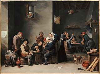 Interior of a Tavern: Card Game