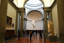 David by Michelangelo in The Gallery of the Accademia di Belle Arti.jpg
