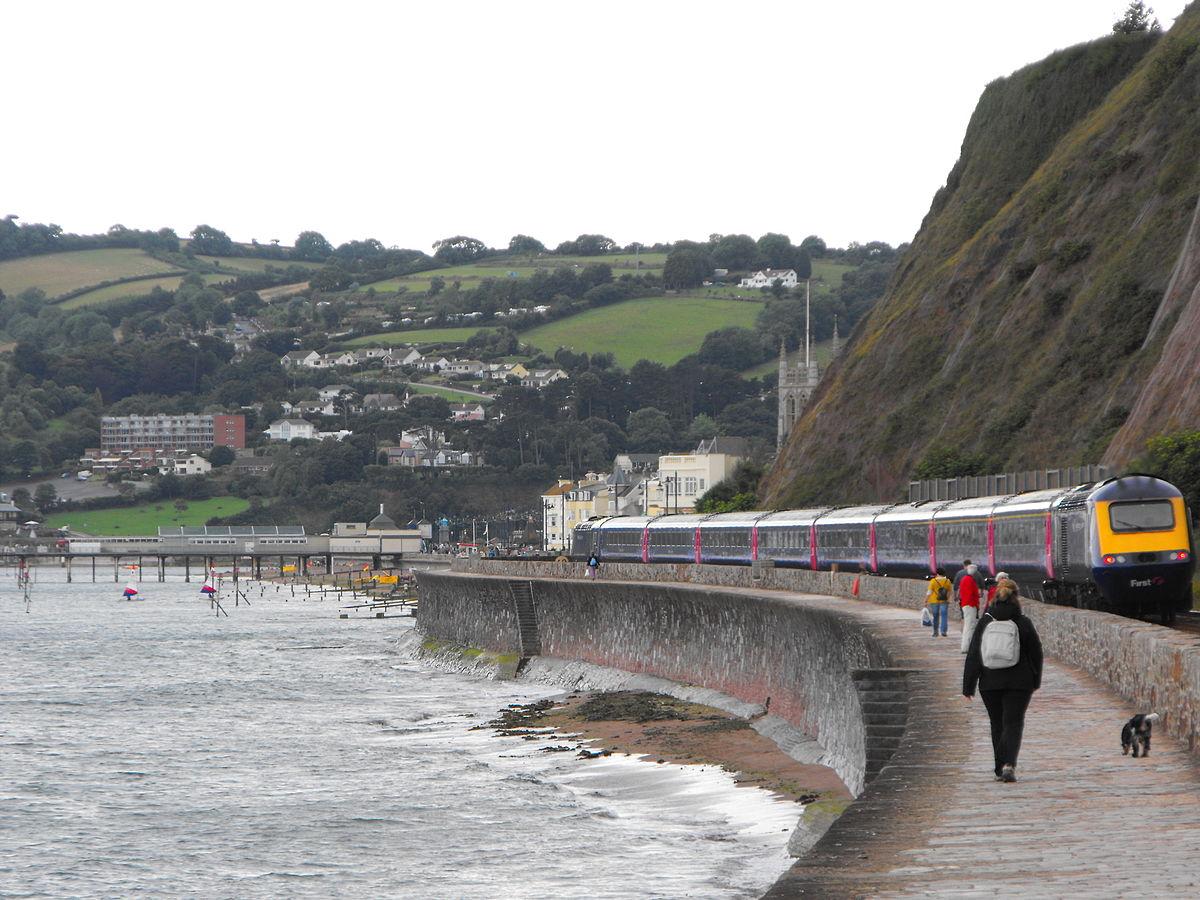 South Devon Railway Sea Wall Wikipedia
