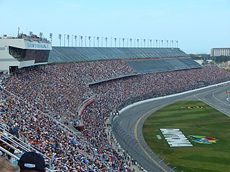 1989 Daytona 500 - Daytona International Speedway, the track where the race was held.