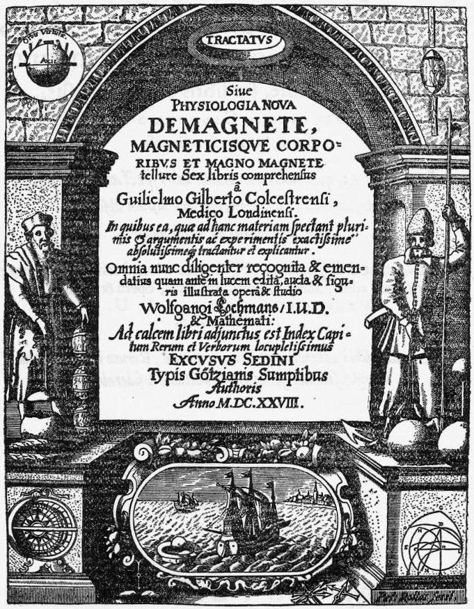 De Magnete Title Page 1628 edition