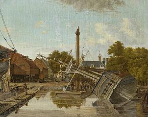 St Jago Shipyard on Bickers Island in Amsterdam