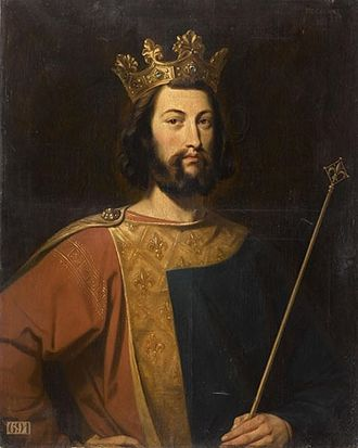 Louis VII of France - Portrait of Louis VII by Henri Decaisne (19th c.)