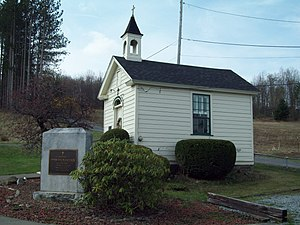 National Register of Historic Places listings in Elk County, Pennsylvania - Image: Decker's Chapel Apr 10