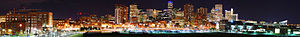 Panorama of downtown Denver, circa 2007, looki...