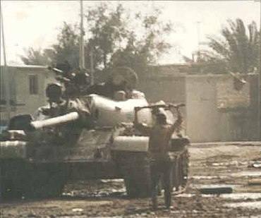Destroyed tank 1991 uprising Iraq.jpg