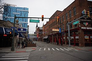 Greektown, Detroit - Monroe Street in Greektown