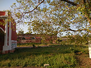 Royapuram railway station - Ruins of the original structures at the station