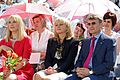 Dina Korzun, Tatyana Golikova and Herman Gref at the opening ceremony of the Federal Research and Clinical Centre for Children's Hematology, Oncology and Immunology.jpg