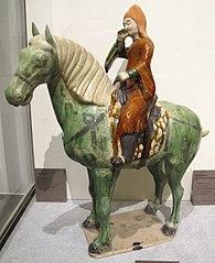 Statuette of a mounted musician-MA 3991