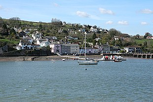 Dittisham seen from Greenway Quay