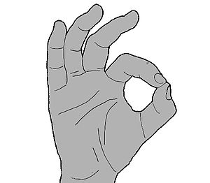 """OK (gesture) - Diving signal for """"I'm OK"""" or """"Are you OK?"""""""