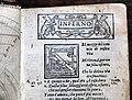 Divina commedia... ridotta a miglior lezione dagli accademici della crusca, per domenico manzani, firenze 1595, 03 inferno, gatta ed emblema riscaldato.jpg