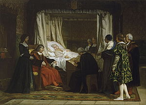 Eduardo Rosales - Doña Isabel the Catholic Dictating Her Will (1864)