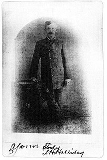Doc Holliday Gambler, gunfighter, and dentist in the American West