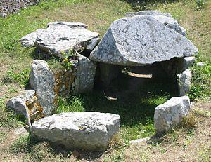 Jersey dolmens - Les Monts Grantez