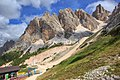 Dolomites - Cortina area - Cristallo ski area - ancient old 2 person (standing) gondola (11059061416).jpg
