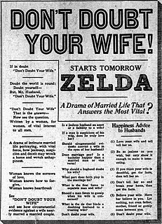 <i>Dont Doubt Your Wife</i> 1922 film