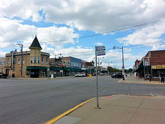 Melrose Park, Illinois - Image: Downtown Melrose Park