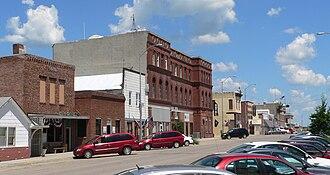 Pender, Nebraska - Downtown Pender: north side of Main Street
