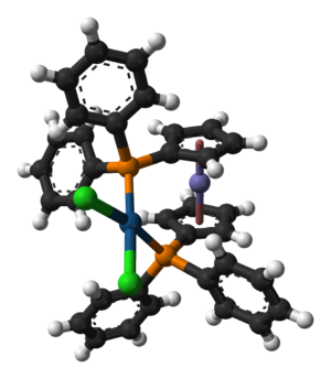 1,1'-Bis(diphenylphosphino)ferrocene - Structure of the complex PtCl2(dppf).