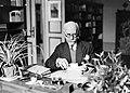 Dr Felix Rutten achter zijn bureau in zijn werkkamer, Bestanddeelnr 191-1261.jpg