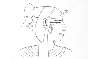 Sitre - Drawing of Sitre, from her Theban tomb QV38.